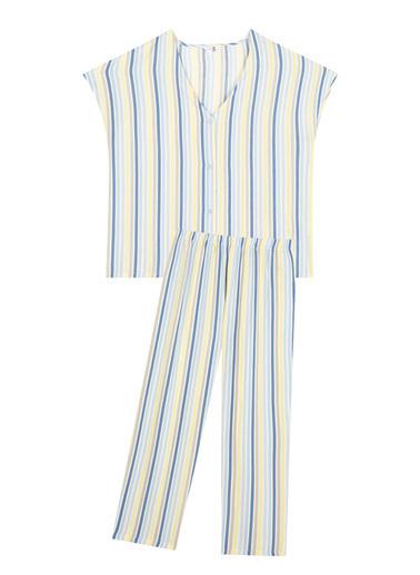 Penti Çok Renkli Blue Stripe Gömlek Pantolon Takımı Renkli